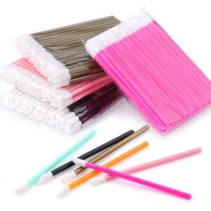 Image 2 - 50pcs Disposable Eyelashes brush Individual Lash Removing Cleaning  Mascara Applicator Makeup Brushes For Eyelash Extension Tool