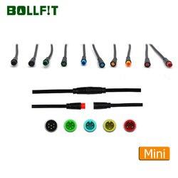 Bollfit Julet mini kabel 2 3 4 5 6pin wodoodporne złącze elektryczny przedłużacz rowerowy do wyświetlacza Ebike Light Ebrake w Akcesoria do rowerów elektrycznych od Sport i rozrywka na