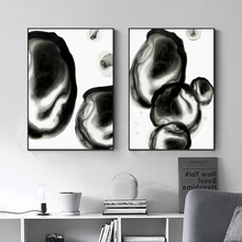 Wall Art Canvas Painting Abstract Black and White Posters and Prints Home Wall Decor Nordic Modern Ink Decor Picture for Bedroom black white palm tree leaves canvas posters and prints minimalist painting wall art decorative picture nordic style home decor