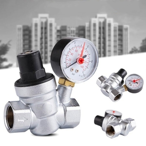 Image 3 - 1/2 Cal regulator ciśnienia wody z miernika ciśnienia utrzymanie zawór wody z kranu zawór redukcyjny DN15