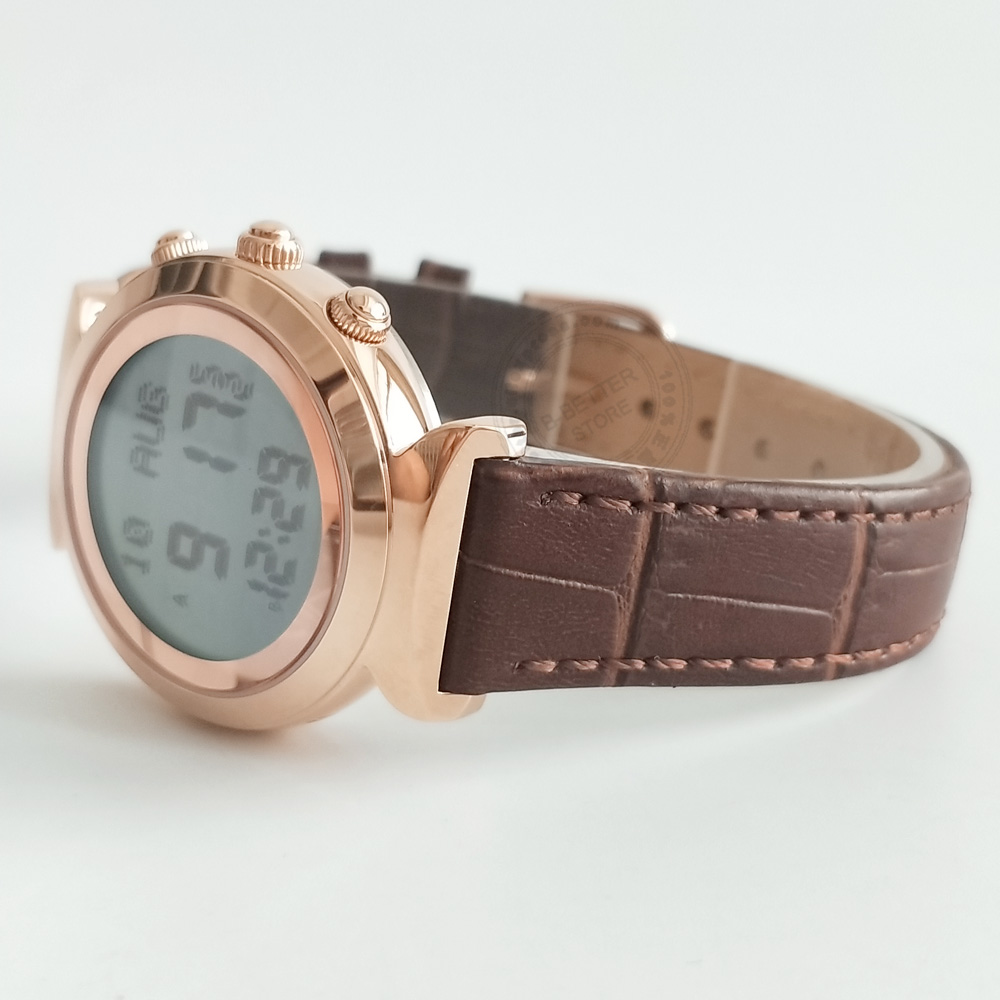 Lady Azan Watch for Muslim with Word Prayer Time and Auto Qiblah