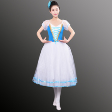 Déguisement de Ballet Tutu Giselle pour filles, robe longue en Tulle, en Tulle, ballerine à manches bouffantes, robe de chorale, nouvelle collection