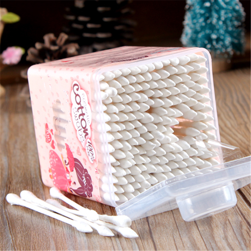 200Pcs New Beauty Clean Double-headed Cotton Swab Women Health Make Up Tip Cotton Wabs Cosmetic Beauty Swabs Ear Clean Hot