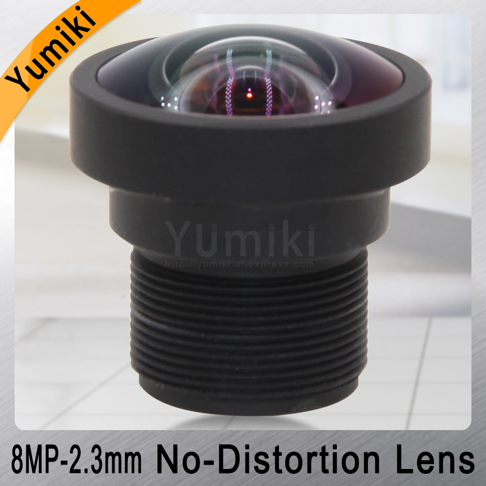 Yumiki 8MP 2.3mm Lens 1/2.5 Inch IR No Distortion F2.4 M12 Lens For AHD IP Camera Cctv Lens With IR Filter 650nm