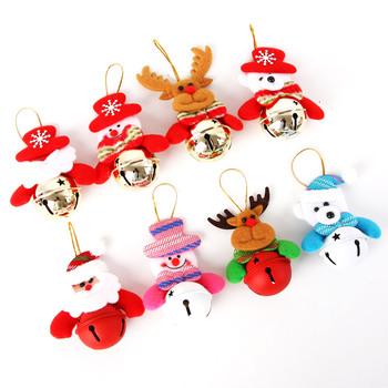 Nowy 1 szt Mini świąteczne dzwonki wisiorek choinka bałwanek ozdoby dzwonki święty mikołaj dzwon lalka bałwan dekoracje tanie i dobre opinie BIT FLY CN (pochodzenie) G283 1 pc iron Santa bell pendant Santa Claus Snowman Elk Bear Christmas gifts Home decoration accessories