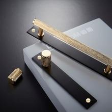 Dooroom латунная фурнитура ручки разворачиваются/потайная установка современный золотой черный шкаф комод для шкафов, ящиков тянет ручки