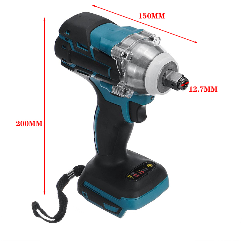 Impact For Power 18V Tool Cordless Wrench Brushless 520N 1  Makita Socket Wrench Battery Rechargeable Torque Electric M 2