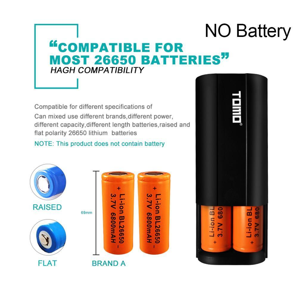 26650 18650 Li-ion Battery Power Bank Case Kit NO Battery Battery Charger DIY Output Phone Box Charger Dual For Mobile Batt G9K9