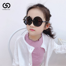 Boy girl goth round children sunglasses simple fashion XO irregular steampunk sunglasses.