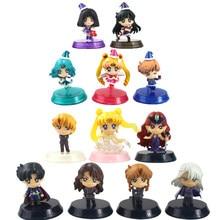Figuras de Sailor Moon, 5 uds., 7 Uds., Tsukino Pretty Guardian Dark Kingdom, modelos de muñecos, Regalos especiales de Navidad