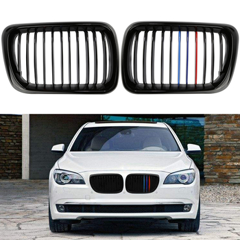 High Quality M-color Front Grilles Front Sport Kidney Grilles Grill For BMW E36 M3 3 Series 97-99 Gloss Black Car styling Heat image