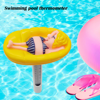 Multi-functional Classic Texture Portable Swimming Pool Thermometer Water Temperature Meter Spa Fish Ponds Floating Probe ponds 50g