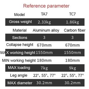 Image 2 - Ifootage Gazelle Serie Reizen Statief TC7 Carbon/Aluminium Professionele Fotografie Statief Voor Sony Canon Dslr