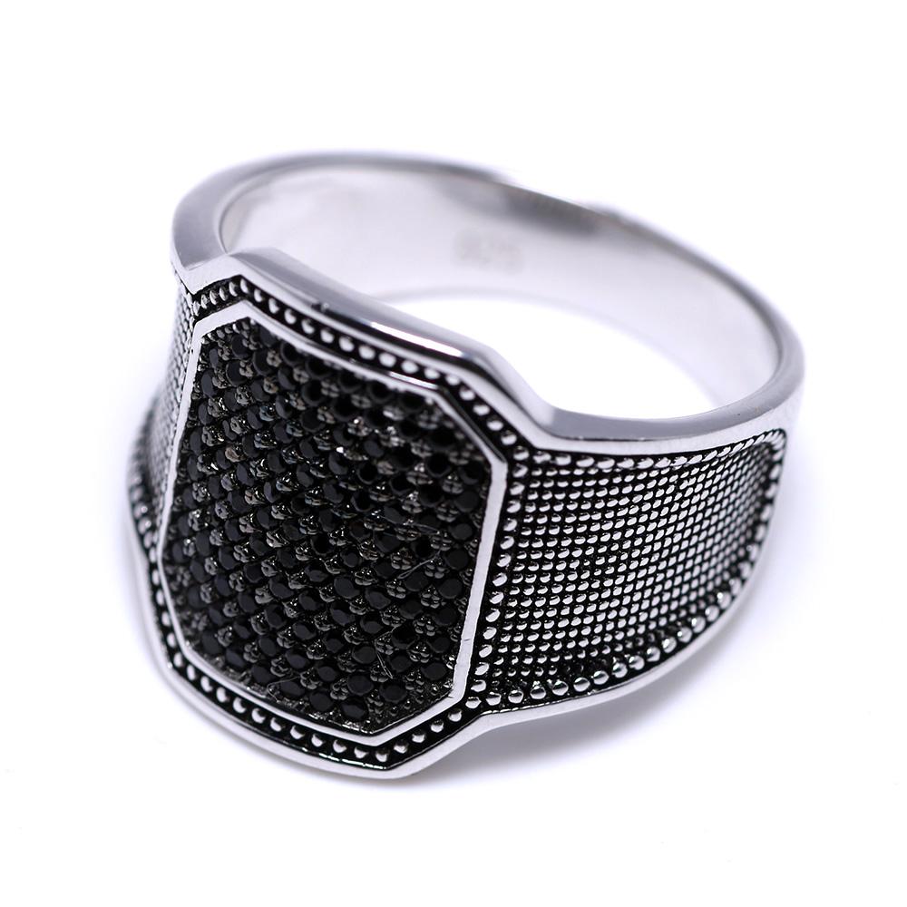 Однотонные серебряные кольца 925 пробы Крутое Ретро винтажное
