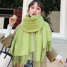 Marka kobiety szalik zimowy szal wszechstronna wersja koreańska w dłuższym stylu 2-w-1 zagęszczony ciepły uczeń dziewczyna bib jesienno-zimowa tanie tanio WOMEN CASHMERE Dla dorosłych 200cm SNN-102 Stałe Szalik Kapelusz i rękawiczki zestawy 70cm Moda 0 4kg