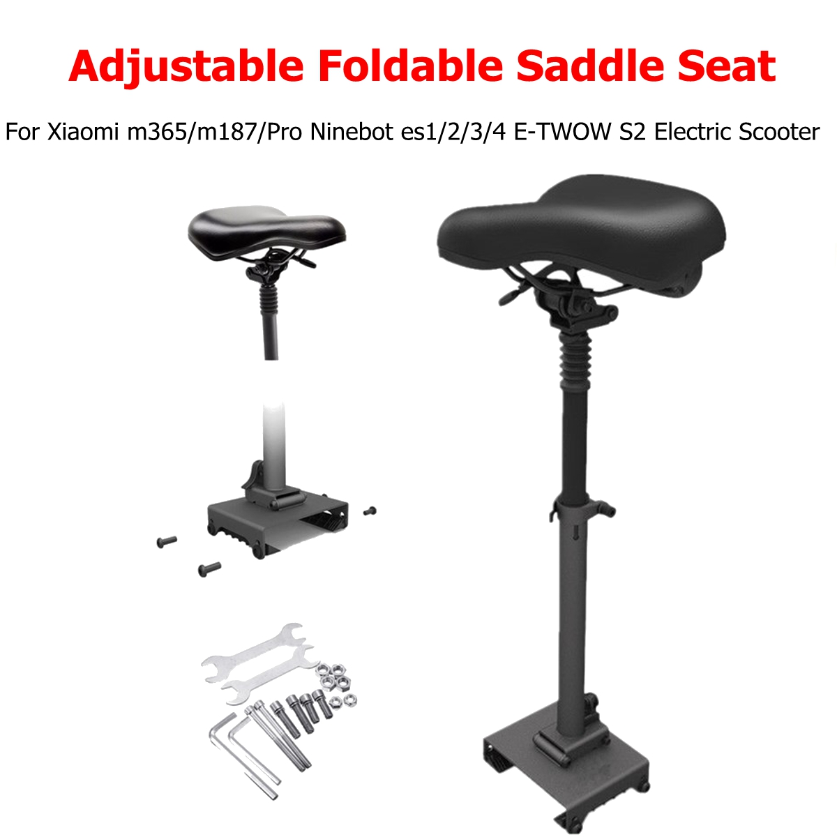 Bottom Removable Seat Saddle Electric Scooter Adjustable For SeatXiaomi M365 Scooter  With Shock Absorbing Install Scooter Seat