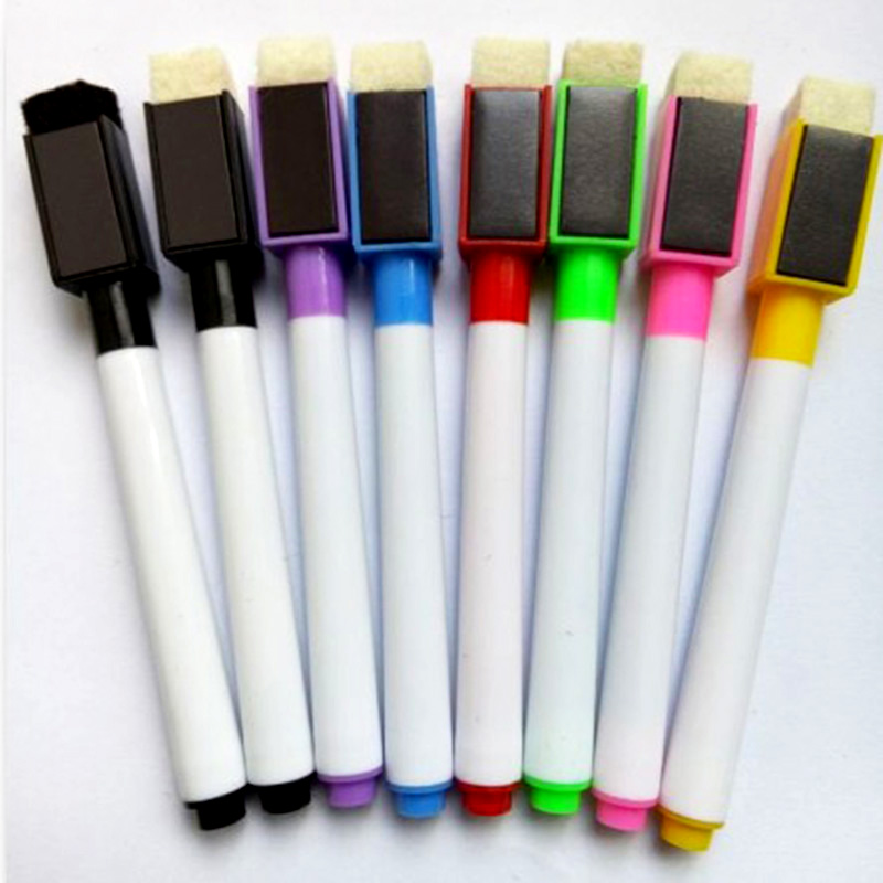 8Pcs Magnetic Whiteboard Pen,Drawing And Recording Magnet Erasable Dry White Board Markers For Office School Supplies