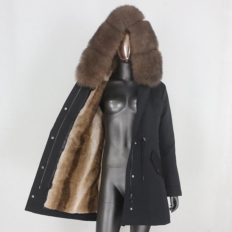 Hce71bb44096b4beb8745570e5cf2f16dT CXFS 2021 New Long Waterproof Parka Winter Jacket Women Real Fur Coat Natural Raccoon Fur Hood Thick Warm Streetwear Removable