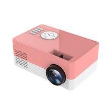 Mini projetor 1080p portátil mini bolso beamer j15 suporte 23 idiomas av usb cartão sd usb mini casa projetor