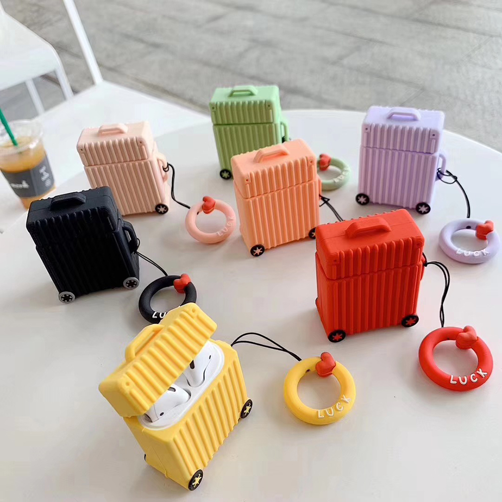For Airpods Protector Case Soft Silicone For AirPods Thickening Earphone Anti-drop For AirPod Lovely Strunk Shockproof Cover