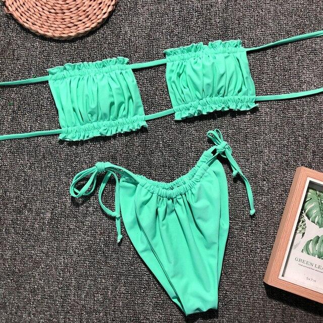 Sexy Brazilian Push Up Bikini Swimwear Women Micro Swimsuit B3469 2