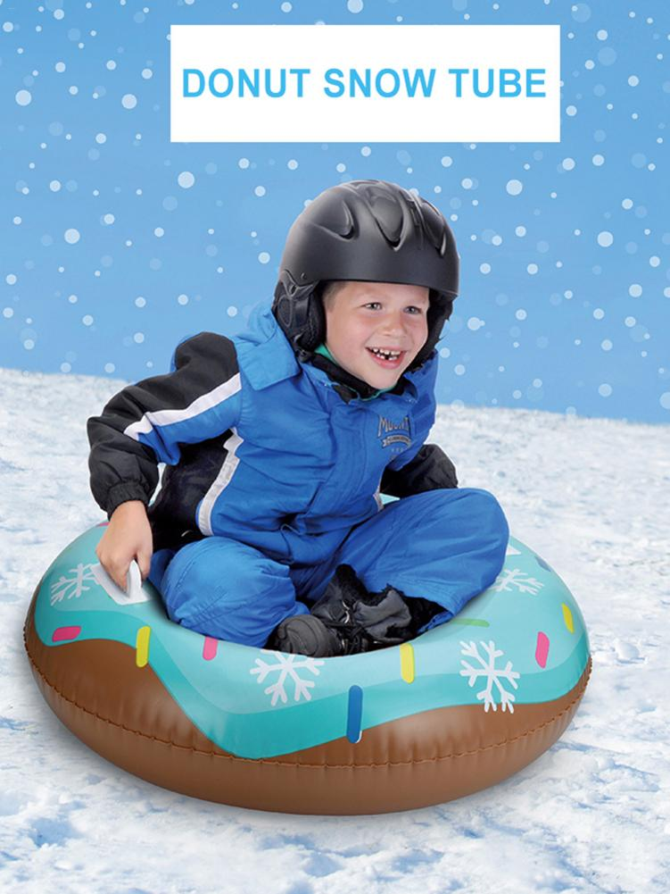 Inflatable Ski Circle Skiing Pad Board Inflatable Durable Tire Snowboard Sleds For Kids Children Adult Raft Sports Toys
