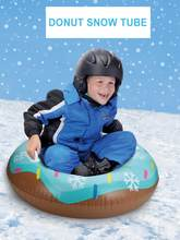 Inflatable Ski Circle Skiing Pad Board Inflatable Durable Tire Snowboard Sleds For Kids Children Adult Raft Sports Toys(China)
