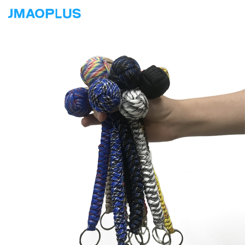 Outdoor Rope Woven Self-defense Ball Key Chain Umbrella Rope Mountaineering Survival Self-defense Steel Ball
