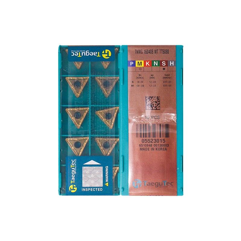 TNMG160408-MT TT5080 100% Original TAEGUTEC Carbide Insert With The Best Quality 10pcs/lot Free Shipping