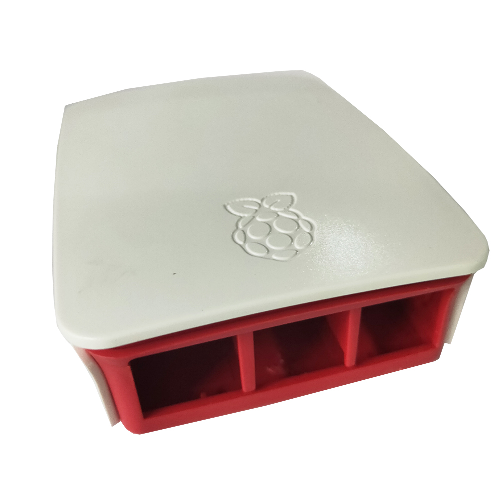 For Raspberry Pi 3 Case Shell Round Box  White And Red Box ABS Plastic Housing Protective Cover For RPI 3B+2B Plus Enclosure