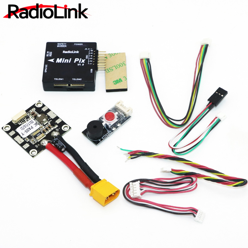 Radiolink Mini PIX Flight Control V1.0 Top Configuration Vibration Damping by Software Atitude Hold for Pixhawk RC Racer Drone(China)