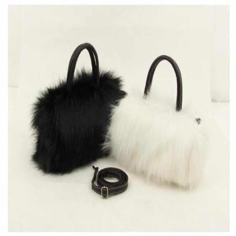 2019 осенняя и зимняя новая сумка на плечо женская сумка Корейская версия Сумки Маленькая плюшевая сумка