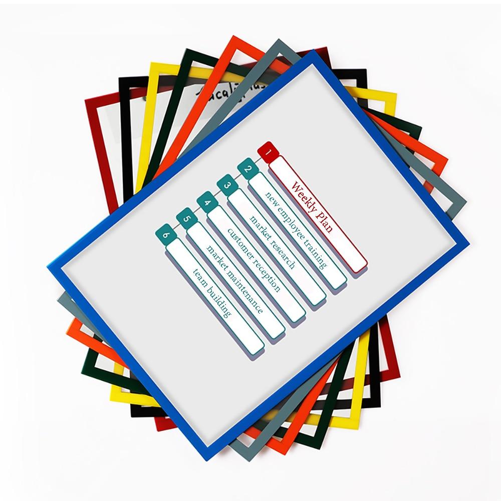 3pcs/Lot A4 Magnetic File Frame Title Frame A3/A4 File Holder Reusable Table Sticker