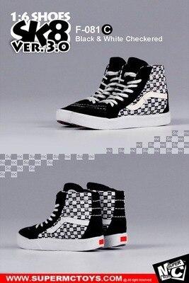 SuperMcToys F081 1//6 Scale SK8 Shoes 3.0 Set D