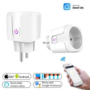 ZUCZUG WIFI Smart Socket EU Plug For APP Smart Remotely Control Socket Alexa Google Home Voice Timing Switch Desktop Outlet