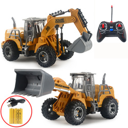 RC Trucks Mini Remote Control Bulldozer 1:32 Plastic Engineering Car Dump Truck Crane Excavator Model Electric Vehicle Toys Gift