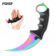 2019 CS GO Counter Strike Karambit Claw marble fade nife Sheath hunt camp tactical fight survive combat self defense hawkbill cosplay cs go counter strike survival tactical claw combat fight tactical training rubber plastic soft knife axe