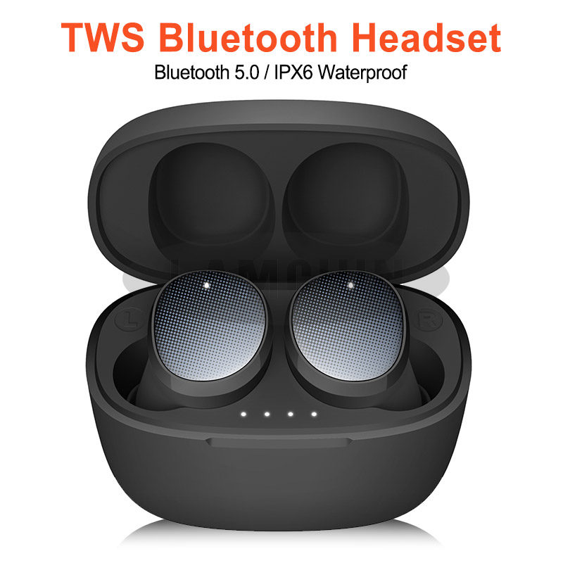 High Quality 3D Stereo Sound Earbuds Mini Dual V5.0 TWS Earphones Wireless Bluetooth Earphone for Sumsung Xiaomi Huawei image