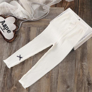 Girls Trousers Long-Pants Kids Leggings Bottoms Infant Autumn Spring Dotted Elastic Skinny