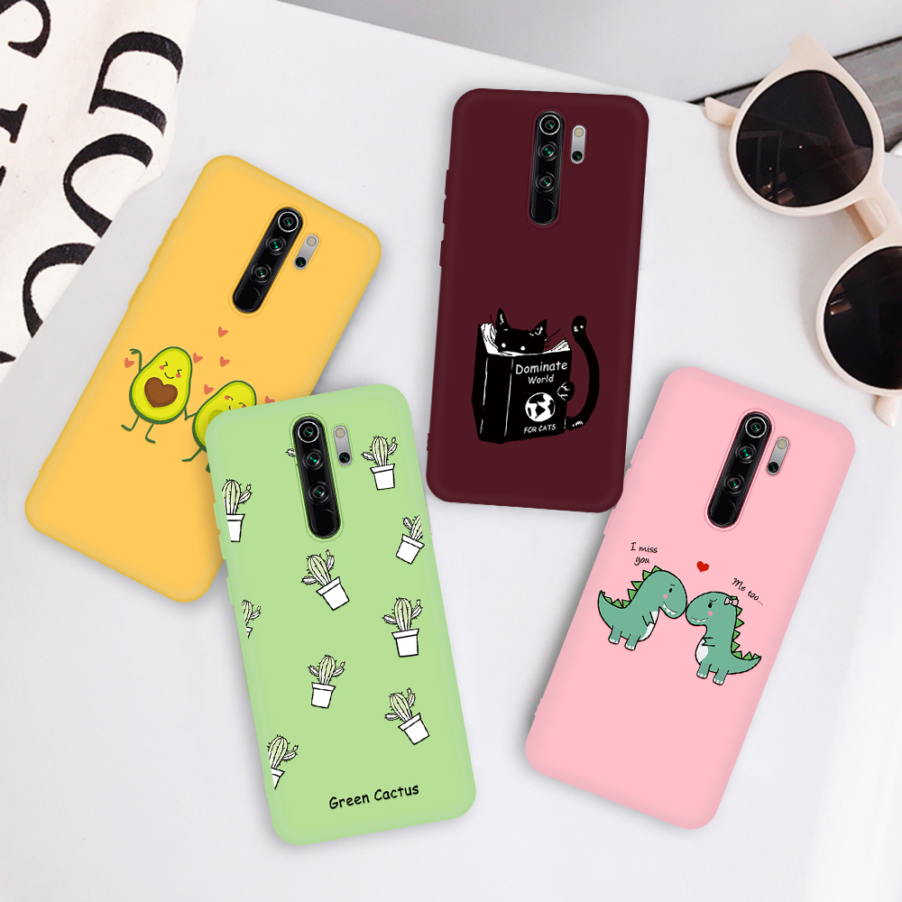 Silicone Phone Cases For Xiaomi Redmi K30 Pro K30 8A 8 Note 8 Note 8 Pro Cactus Cute Cartoon Fruit Pattern Soft TPU Back Cover