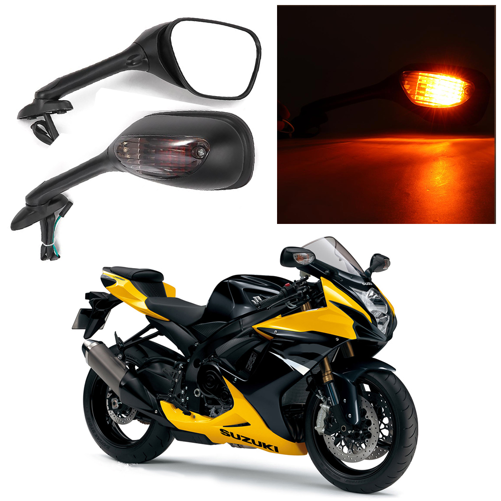For <font><b>Suzuki</b></font> <font><b>GSXR</b></font> Motorcycle Rearview Side <font><b>Mirrors</b></font> for <font><b>Suzuki</b></font> <font><b>GSXR</b></font> 600 <font><b>750</b></font> 1000 with Turn Signal Light K6 K7 K8 <font><b>Mirror</b></font> image