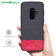 все цены на Silicone Case for Samsung Galaxy S9 case cover for Galaxy S9 Plus S9+ soft tpu shockproof fashion fabric back cover онлайн