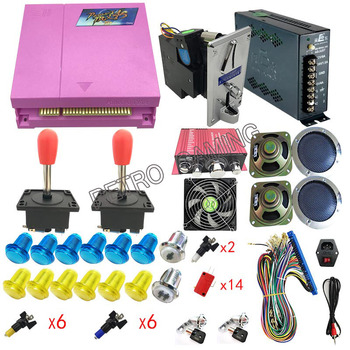 DIY Pandora Box 4S 815 in 1 game kit Arcade Machine parts With coin acceptor power supply Amplifier Joysticks Buttons