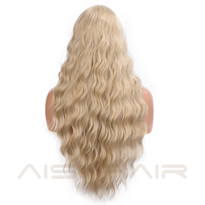 Image 2 - AISI HAIR  Long Wavy Blonde Wigs Black and Brown Natural Hair Heat Resistant Synthetic Wigs for Women African American