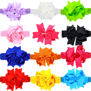 Hair Accessories For Girls Baby Kids Girl Hairclips Sweet Lovely Bowknot Elastic Hairband Headband Solid Spinki Dla Dziewczynki