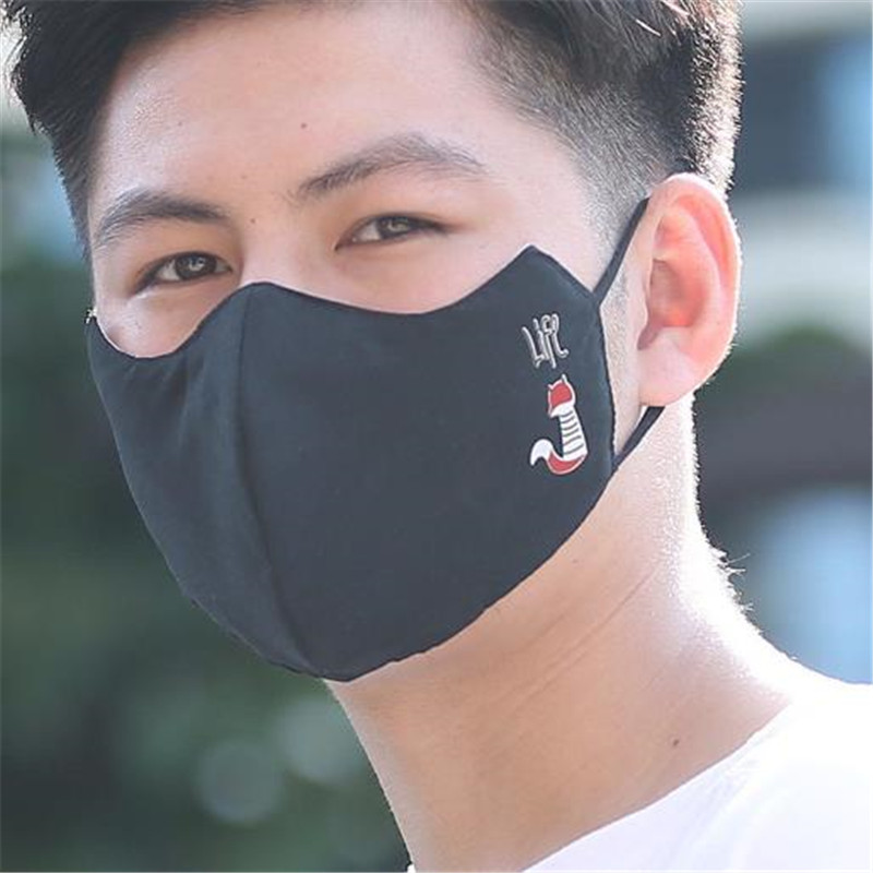 Men Women Cotton Mask Anti Haze Dust Washable Double Layer Reusable Mask Dustproof Spring Summer Mouth Masks Mask Wholesale