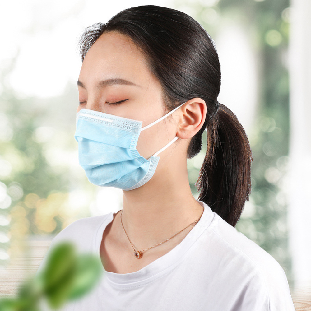Image 5 - 50 Pcs 3 Layer Disposable Face Mask Medical Face Surgical Masks  Anti coronavirus  Anti nCoV PM2.5 Facial Dust Proof Safety Masks  -