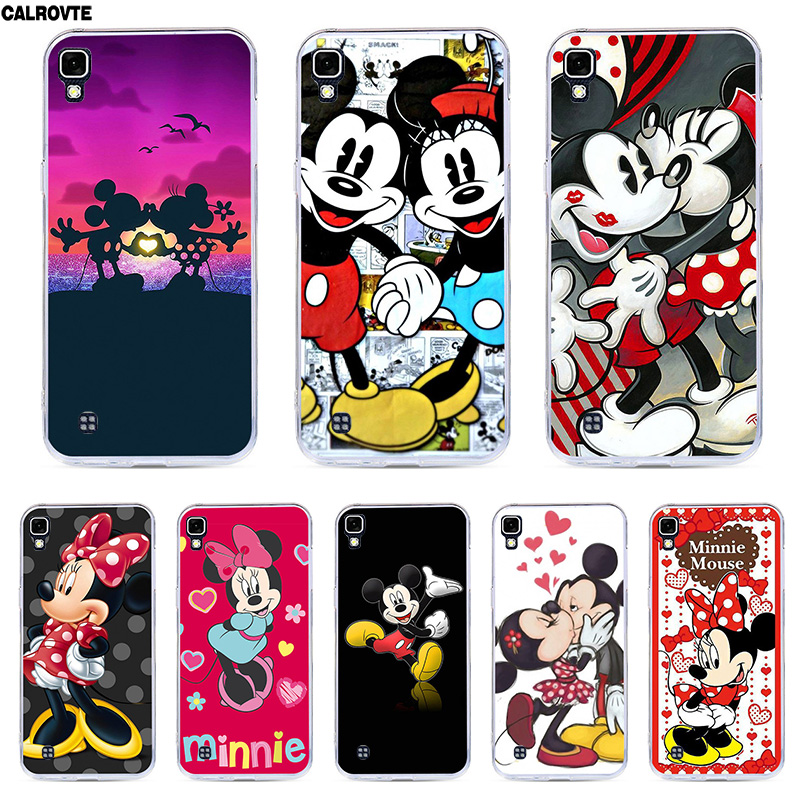 Case For LG X Power Silicon Minne Mickey Phone Cover For LG X Power K220ds K220y Ls755 K210 K220 Marble Soft TPU