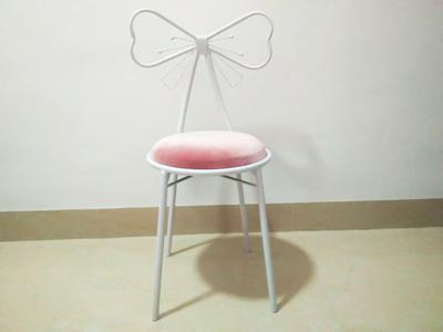 Качественное металлическое кресло, модное, Скандинавское, барное, для отдыха, стул, современный, обеденный, вечерние, с бантом, форма спинки и высокая пена, губка - Цвет: 5