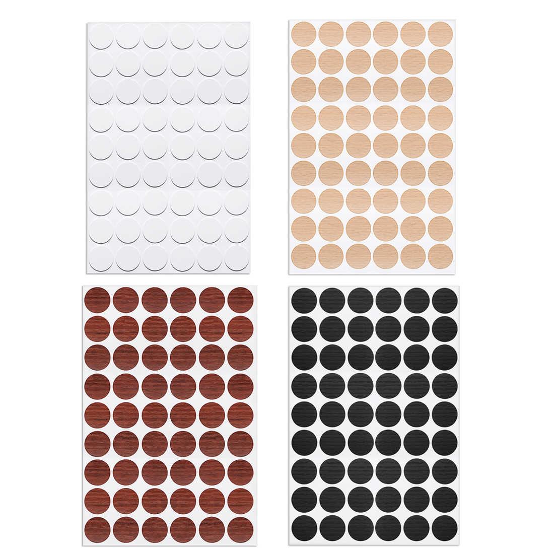 2 mesas 54 en 1 tapas de tornillos autoadhesivas a prueba de polvo Pegatinas autoadhesivas para agujeros de tornillo color blanco 21 mm ZXUEZHENG